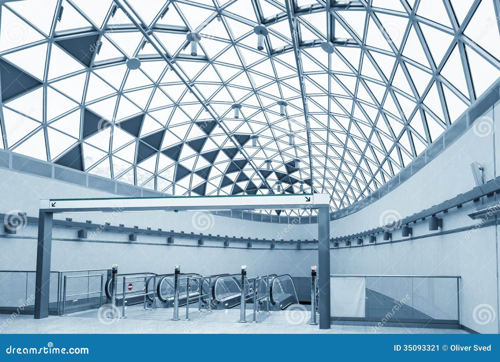 futuristische architektur mit gro en fenstern stockbild bild 35093321. Black Bedroom Furniture Sets. Home Design Ideas