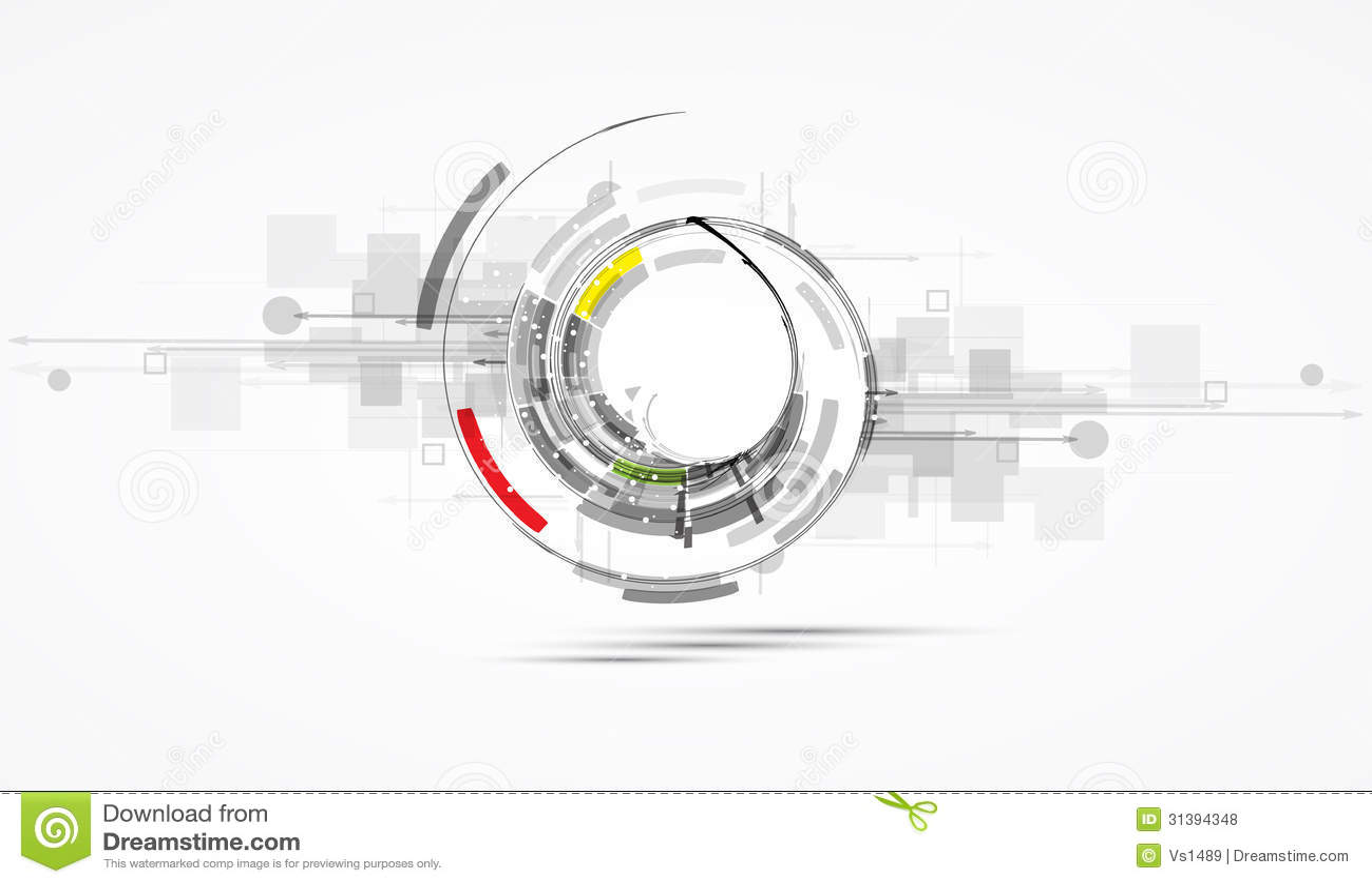 Futuristische hoge de computertechnologiezaken B van Internet