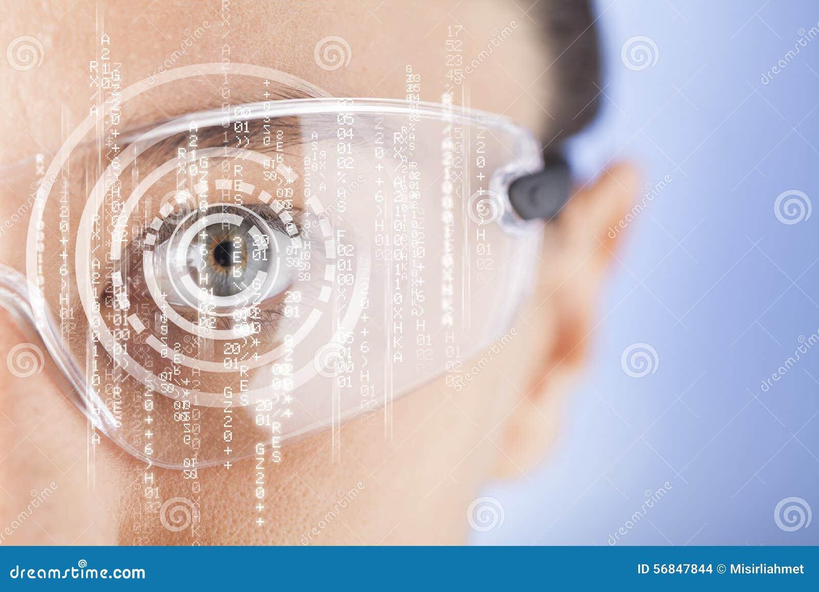 Futuristische intelligente Gläser