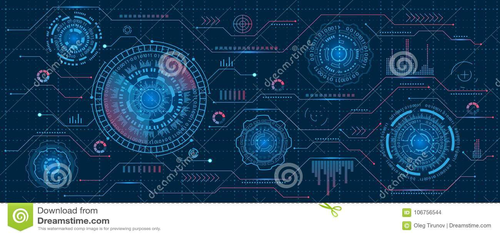 Futuristische Schnittstelle Hud Design, Infographic-Elemente, Technologie und Wissenschaft, Analyse-Thema, Schablone UI für APP u