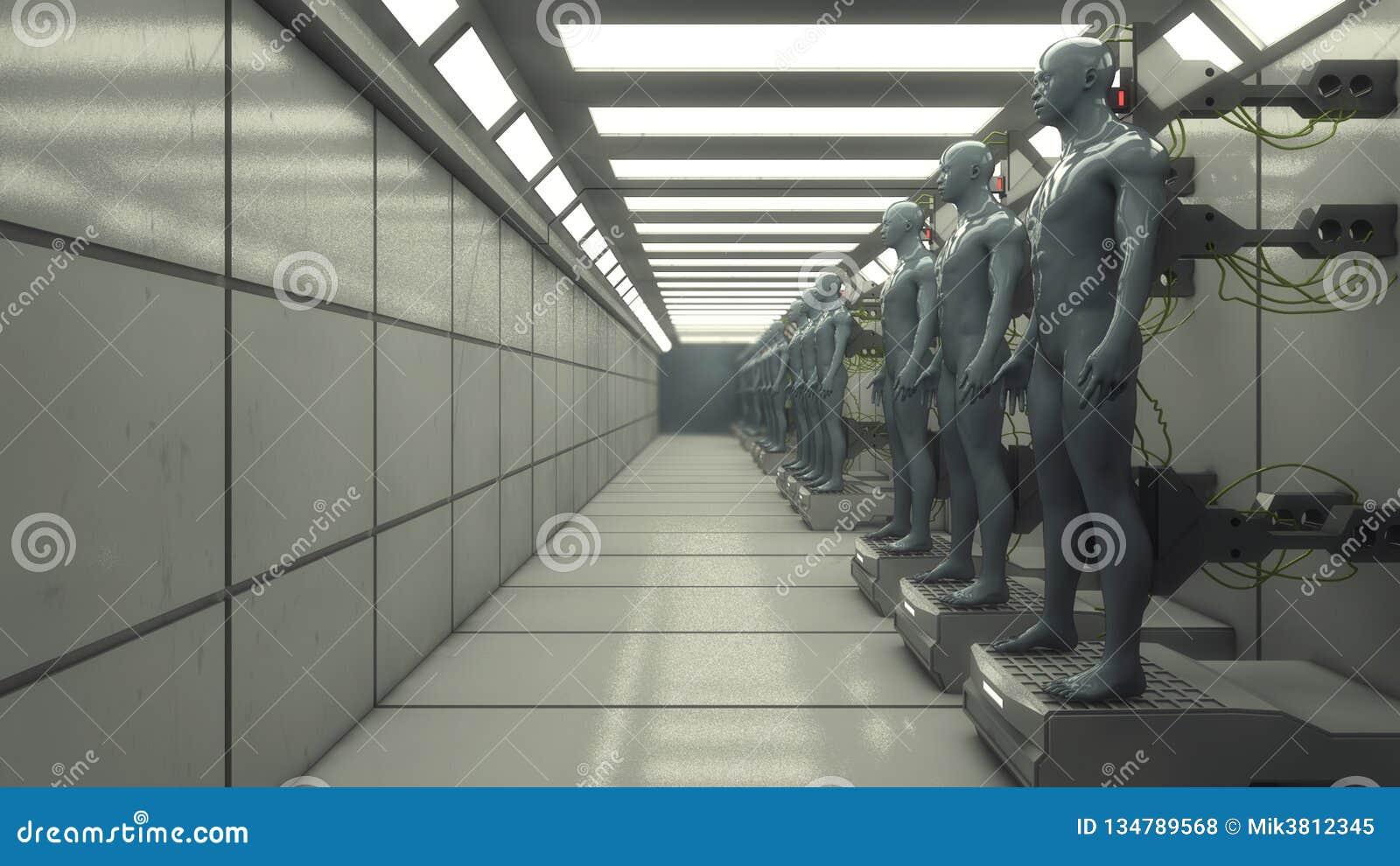 Futuristischer Innenkorridor