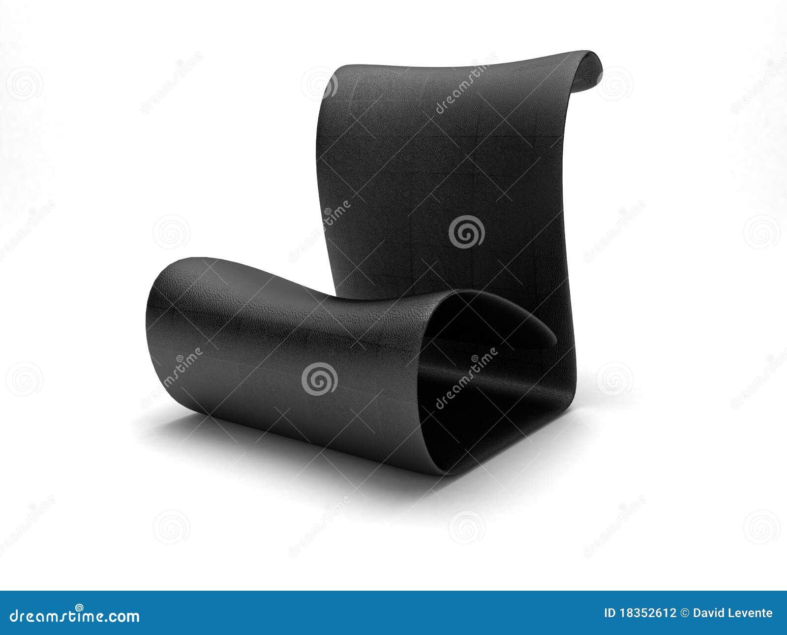 futuristischer schwarzer stuhl stockfotografie bild 18352612. Black Bedroom Furniture Sets. Home Design Ideas