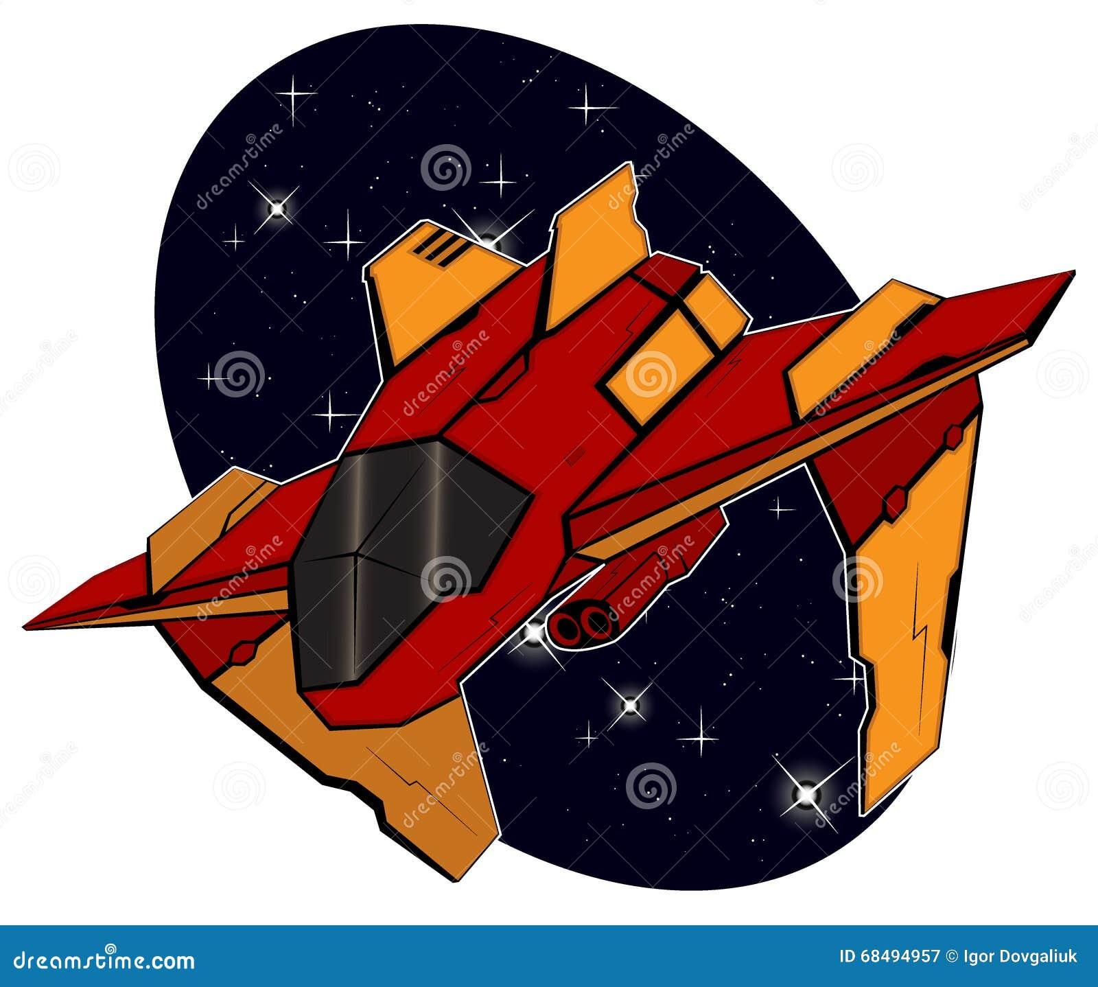 Futuristisches Kampf starship