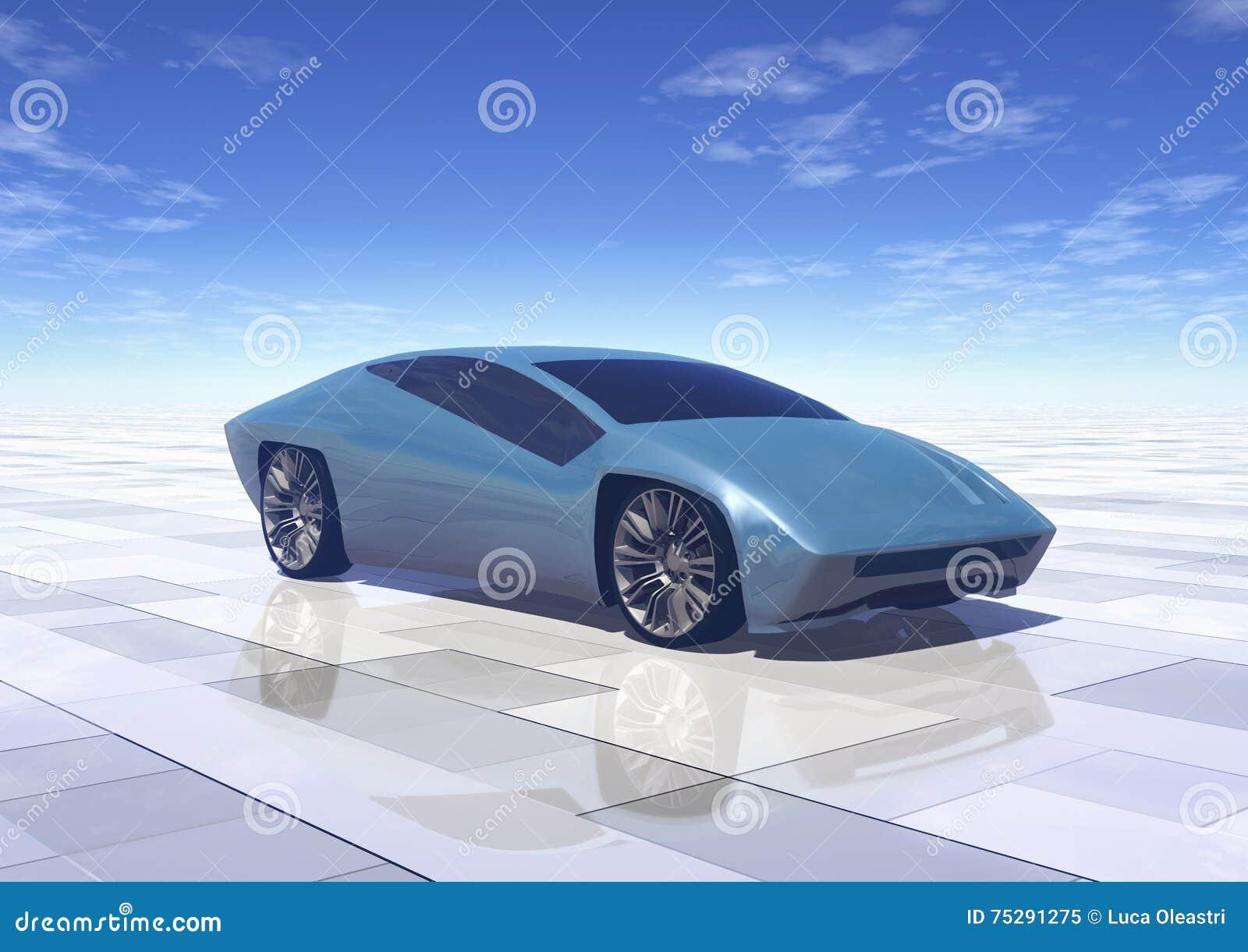Futuristisk begreppsbilprototyp