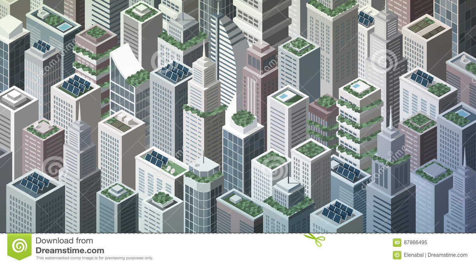 Futuristisk grön stad
