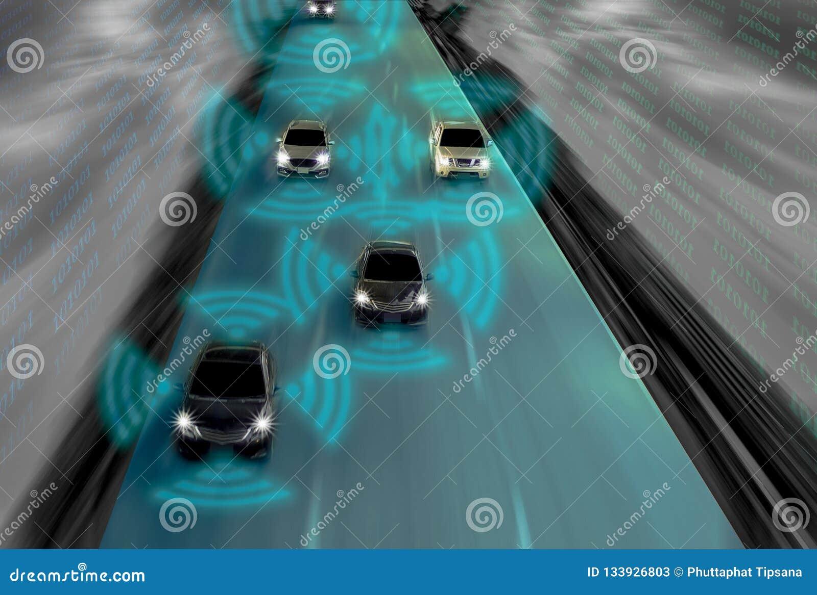 Futuristisk väg av snille för den intelligenta själven som kör bilar, Arti