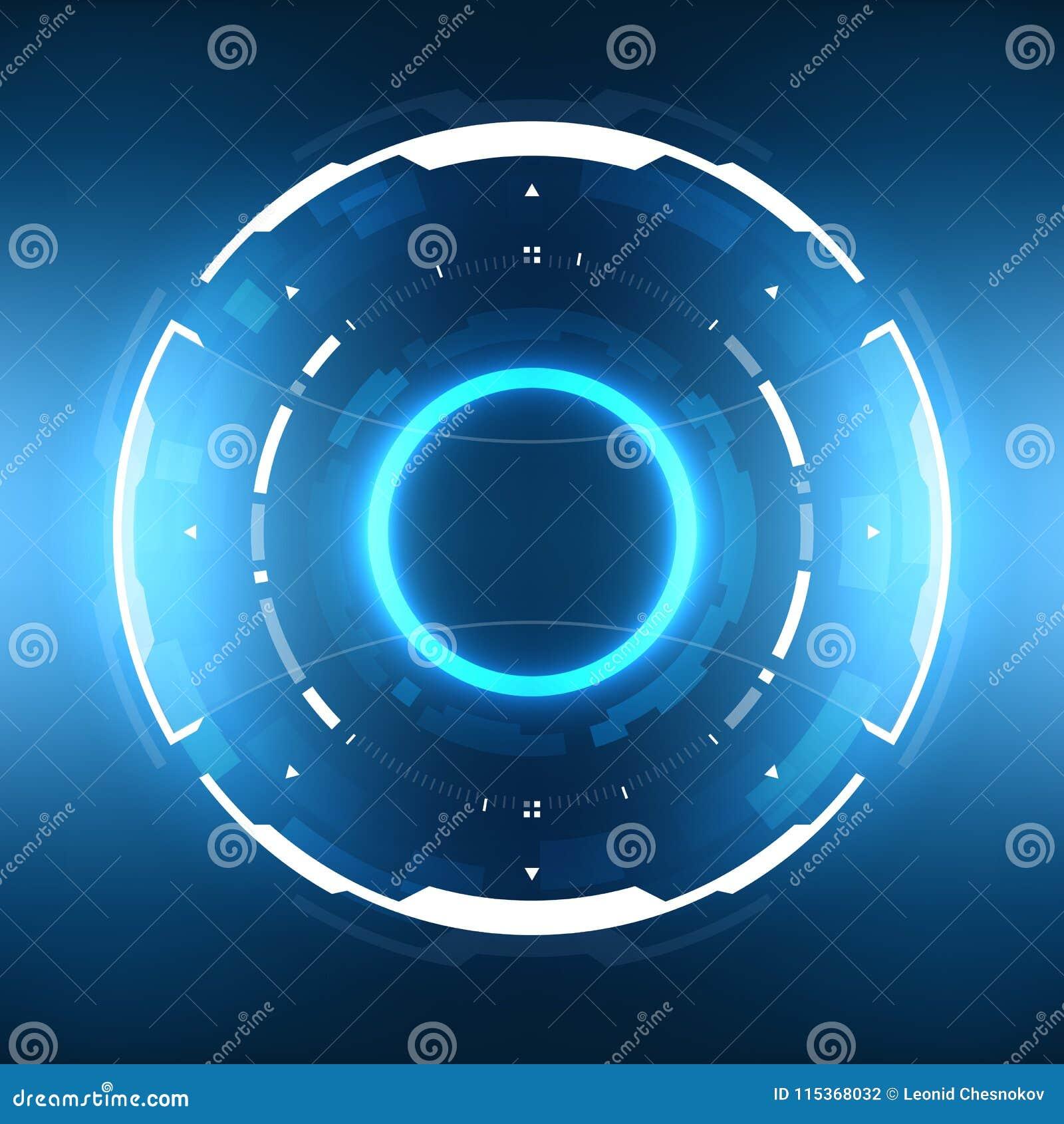 Futuristiskt science fictioncirkulär HUD Element