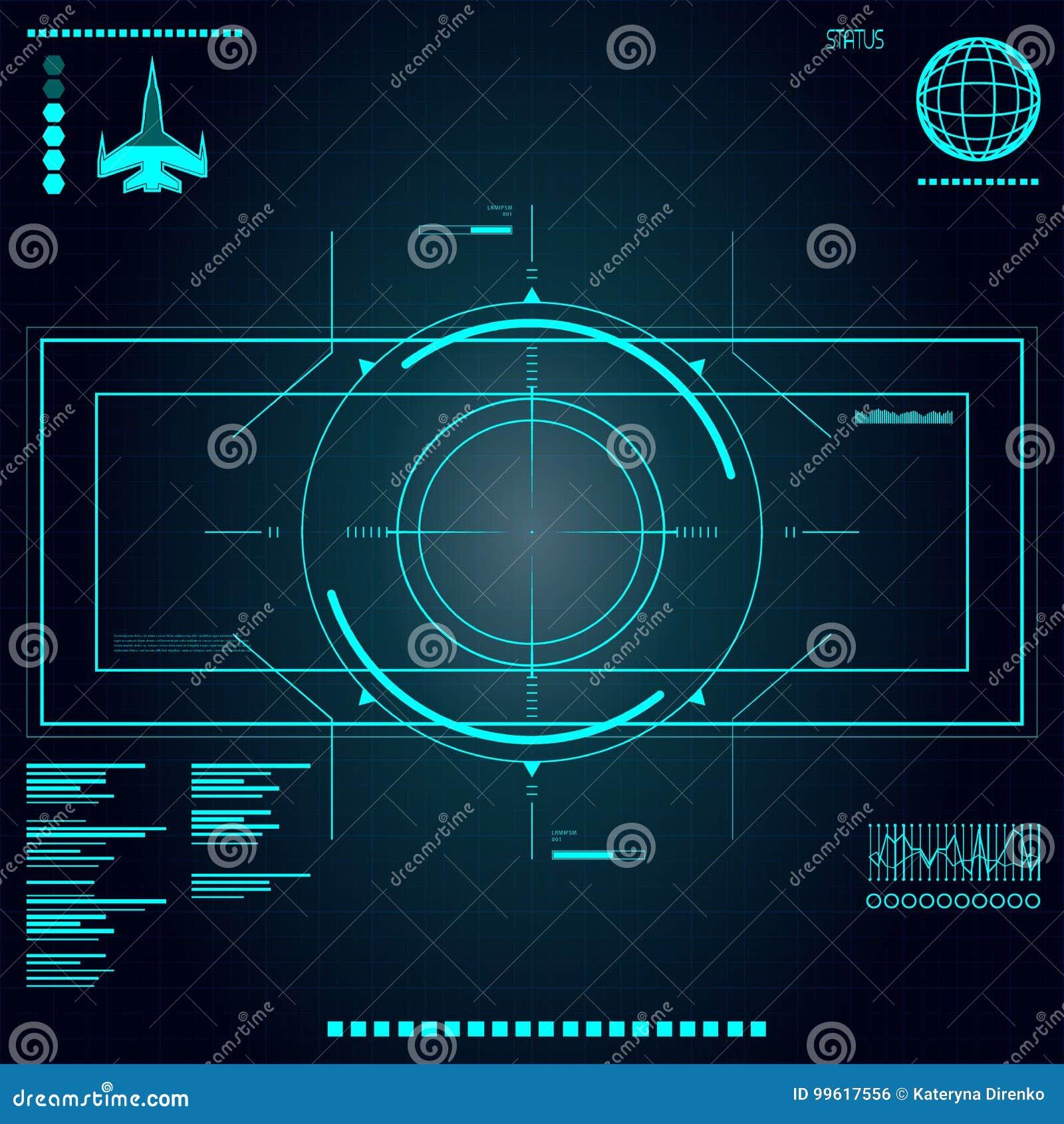 Futuro abstrato, usuário gráfico virtual azul futurista do toque do vetor do conceito