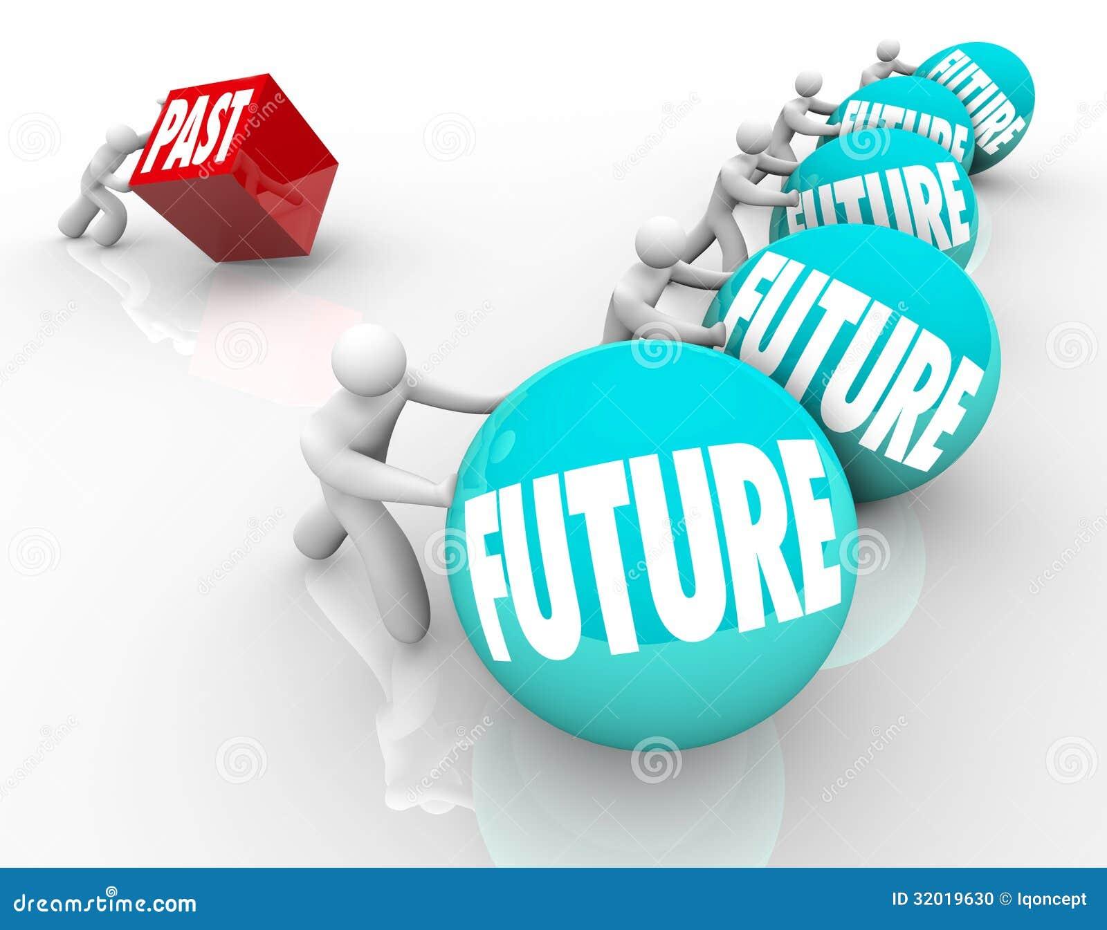Futuro contra la raza del triunfo del cambio del abrazo del pasado pegada detrás