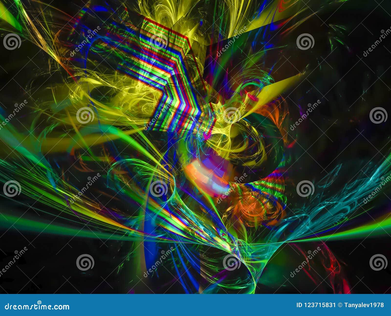 Futuro etereo di stile di eleganza di scienza digitale astratta di frattale unico