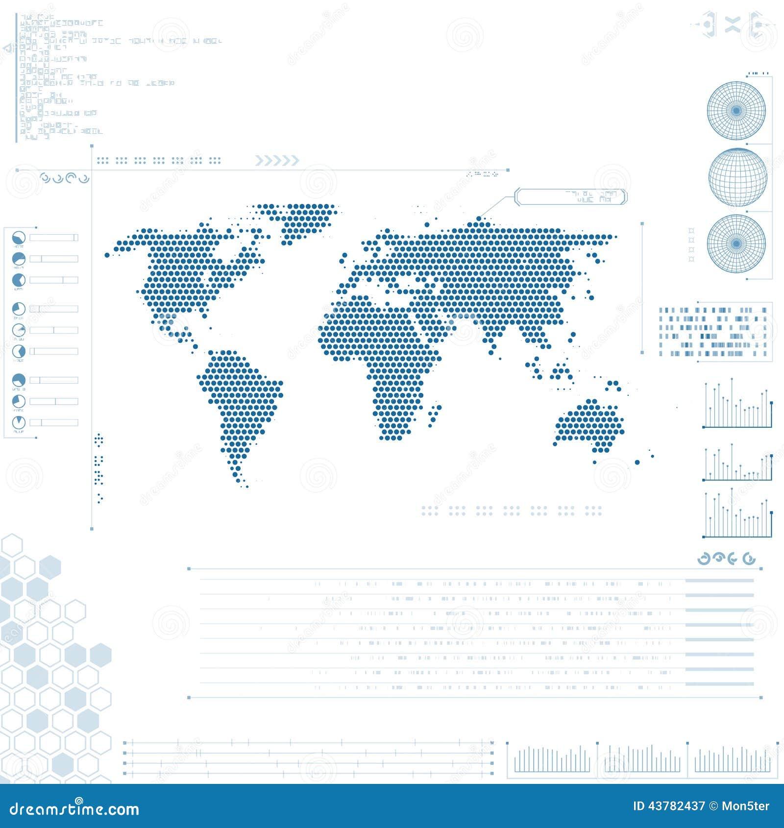 Futurystyczny graficzny interfejs użytkownika