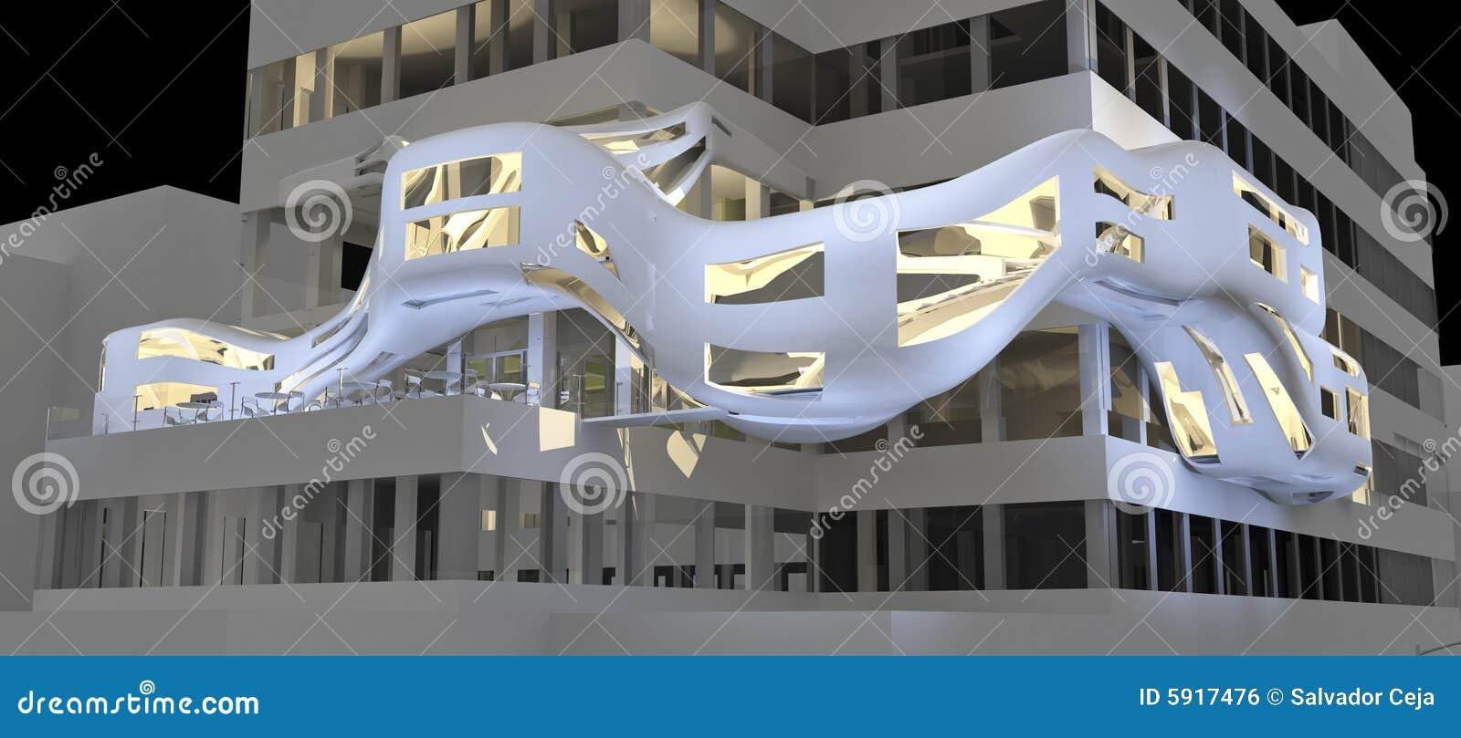 Futurystyczny highrise illustrati