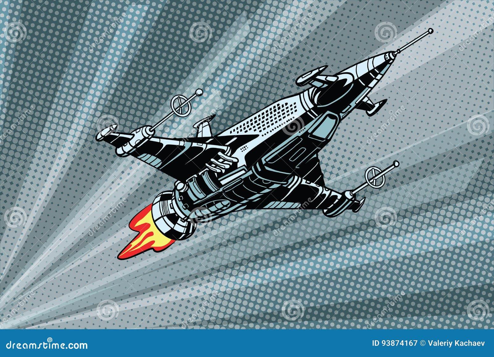 Futurystyczny kosmos bitwy starship