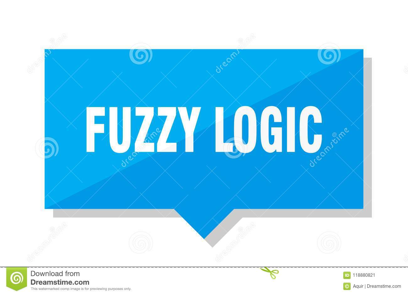 Fuzzy logic price tag stock vector  Illustration of note