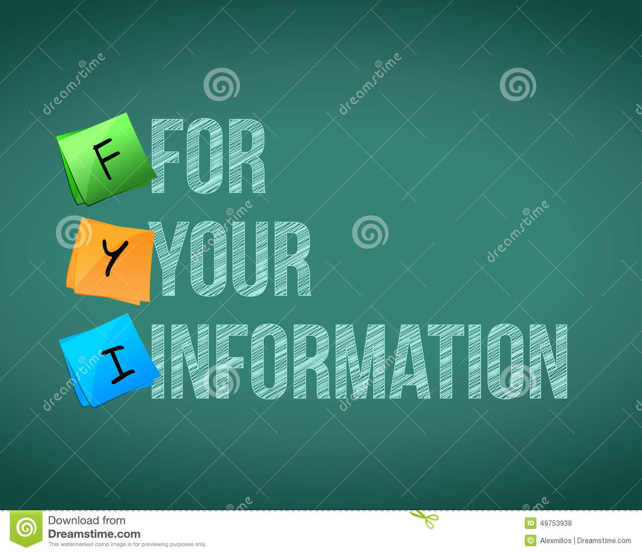 Fyi For Your Information Board Sign Illustration Stock ...