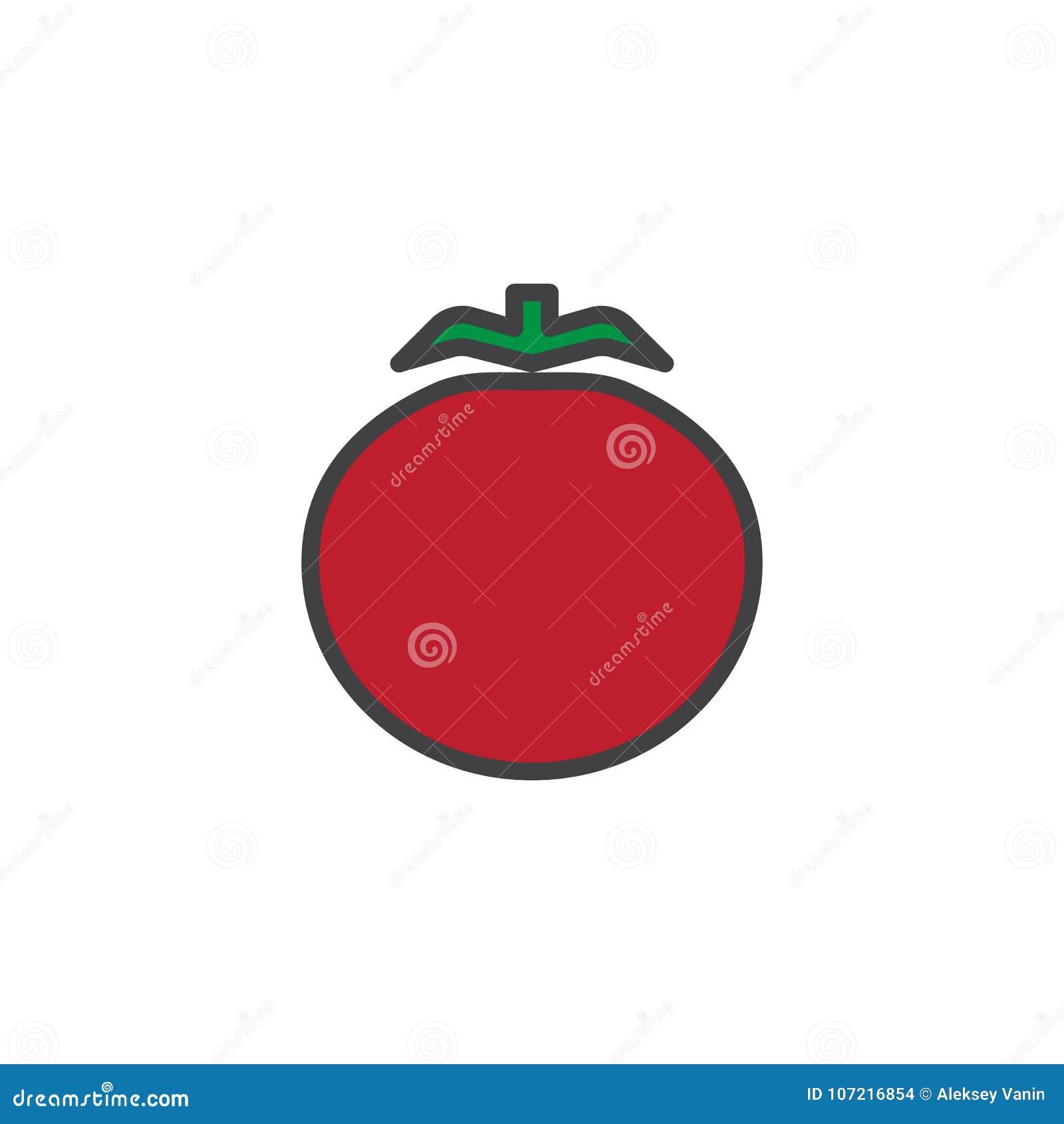 Fylld översiktssymbol för tomat grönsak