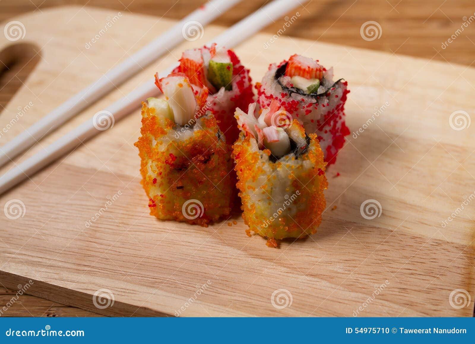 Fyllningar för krabbafiskromsushi
