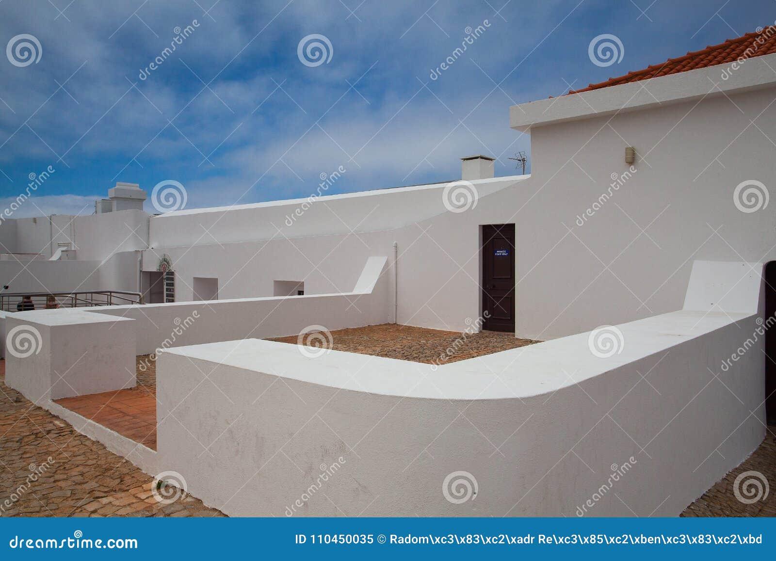 Fyr av Cabo de Sao Vicente, Sagres, Algarve, Portugal