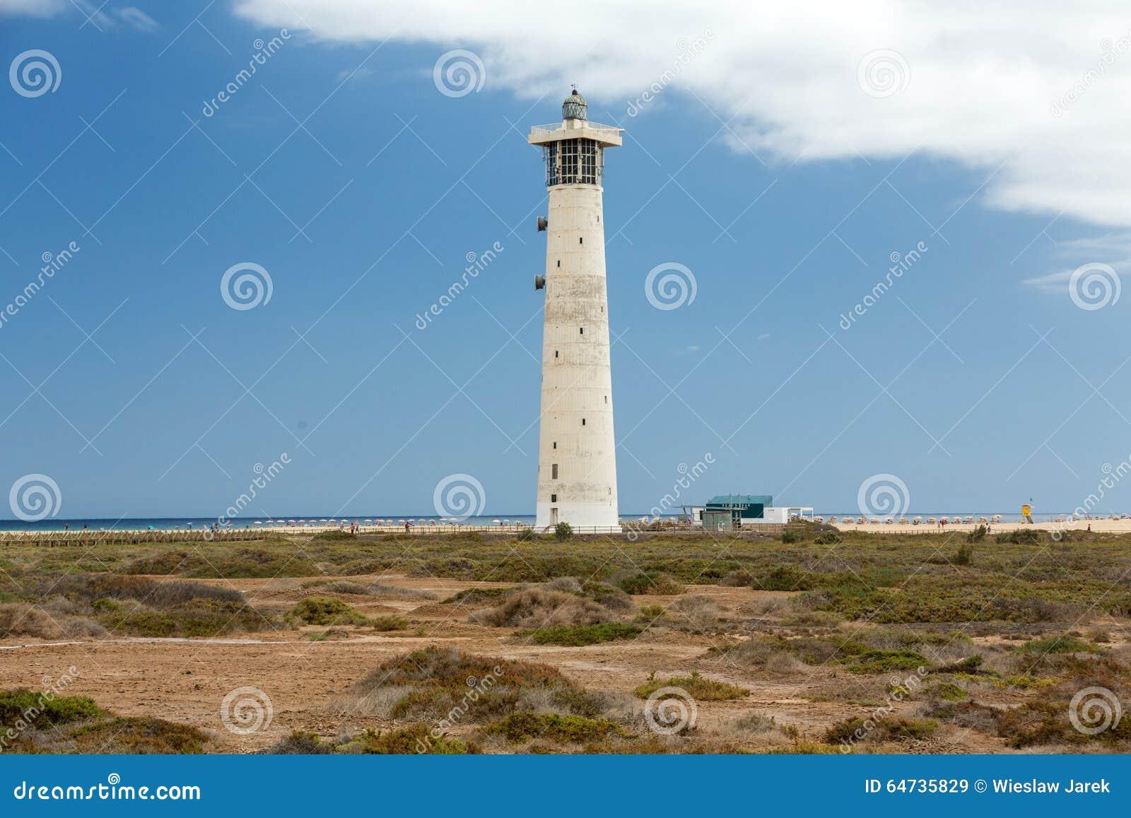 Fyr på Playa del Matorral, Jandia Morro Jable, Fuerteventura