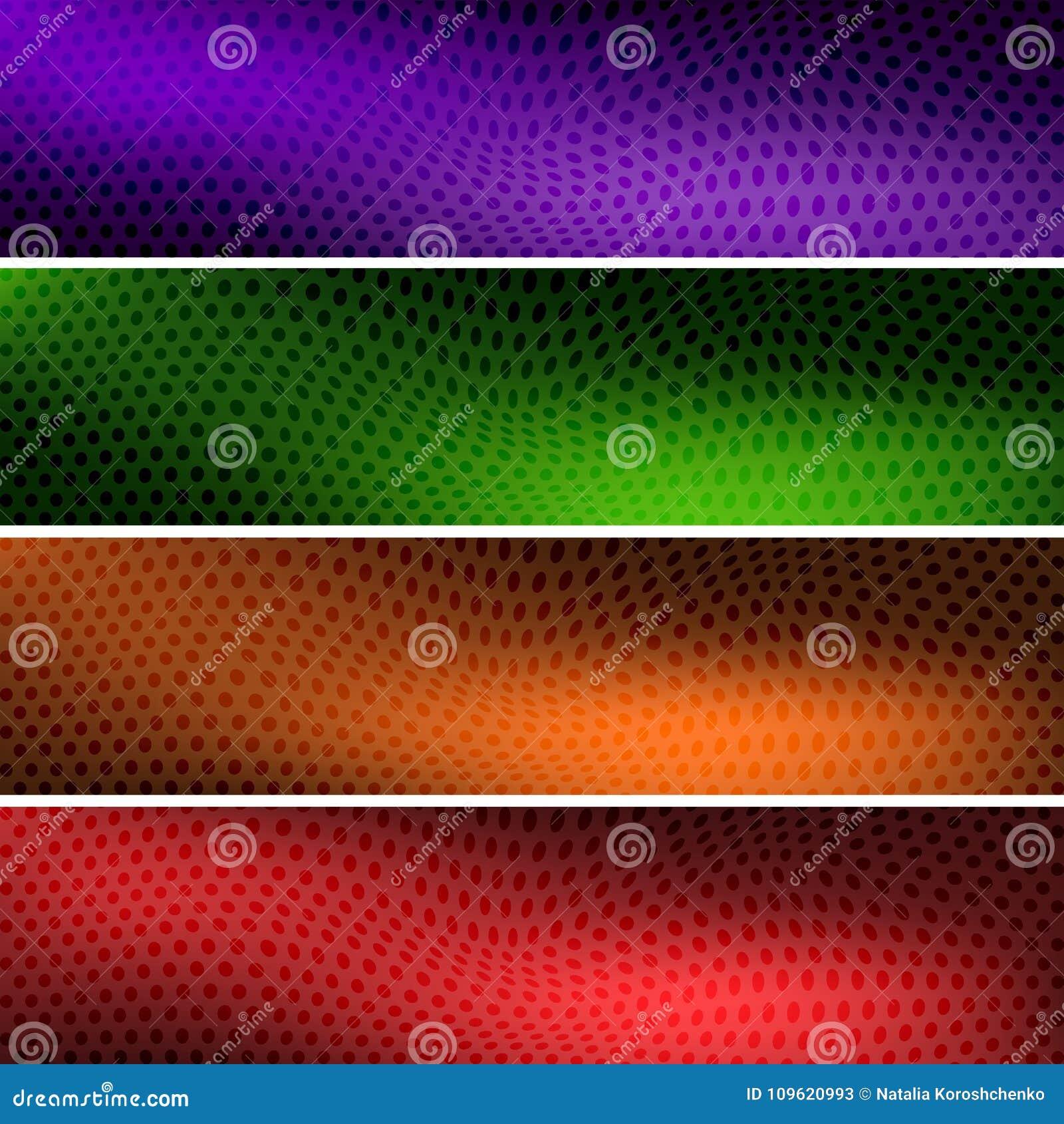 Fyra färgrika bakgrundstitelrader för din plats