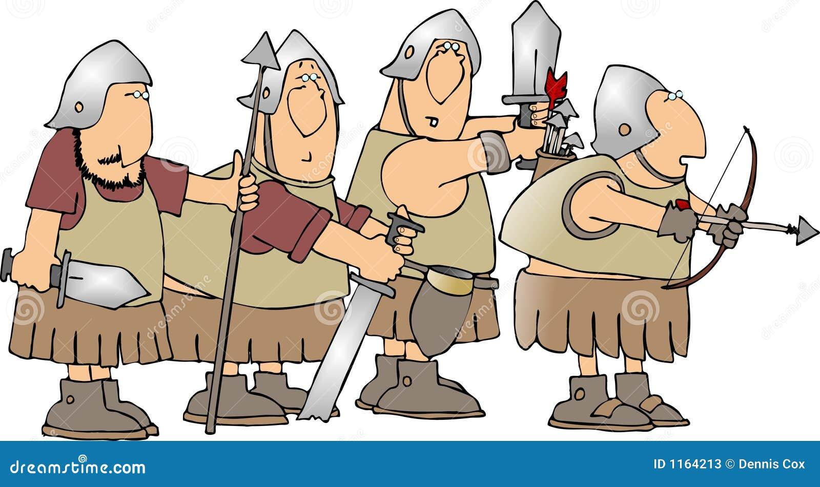Fyra soldater