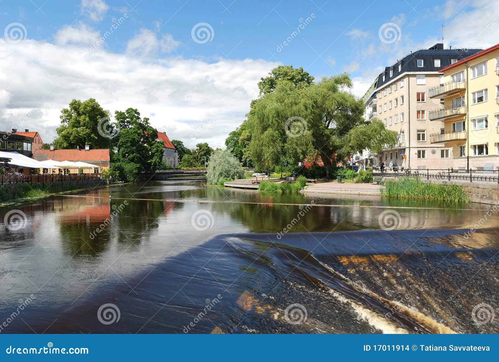 Fyris rzeczny Sweden Uppsala