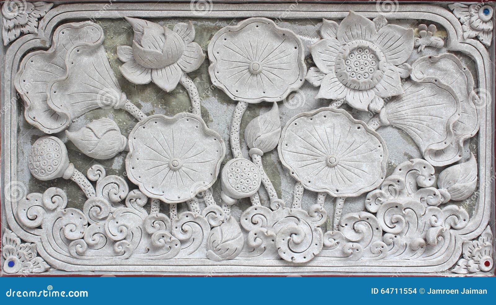 Fyrkant för design för vägg för modell för vit skulptur för stuckatur dekorativ för