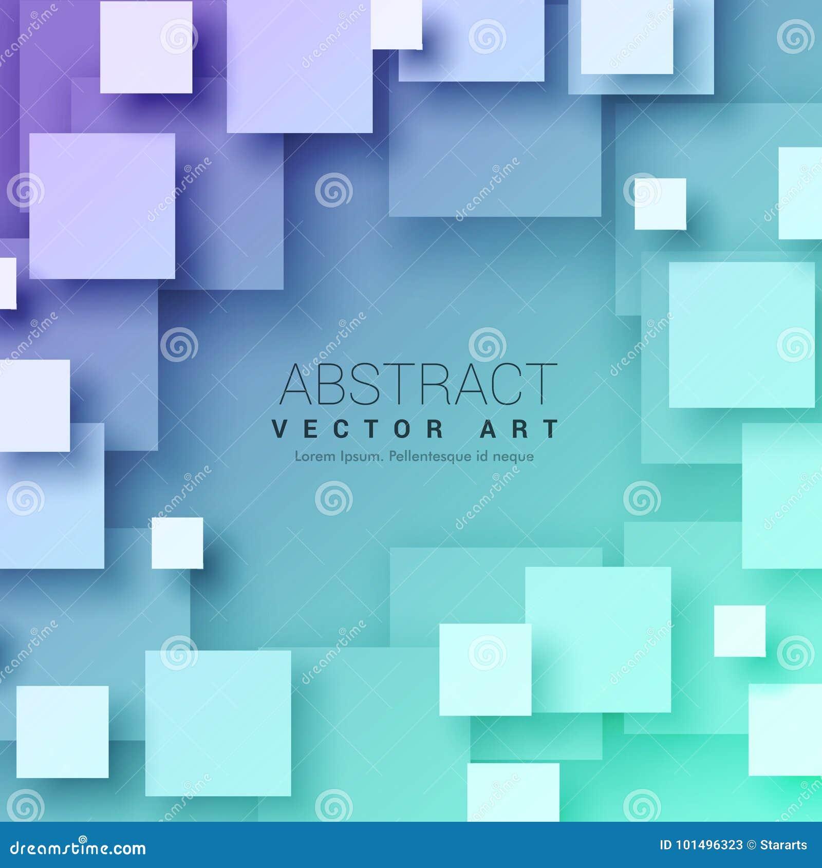 Fyrkantbakgrund för abstrakt begrepp 3d i blåttfärg