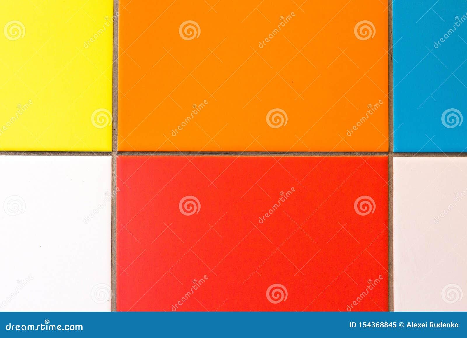 Fyrkanter av olika ljusa färger