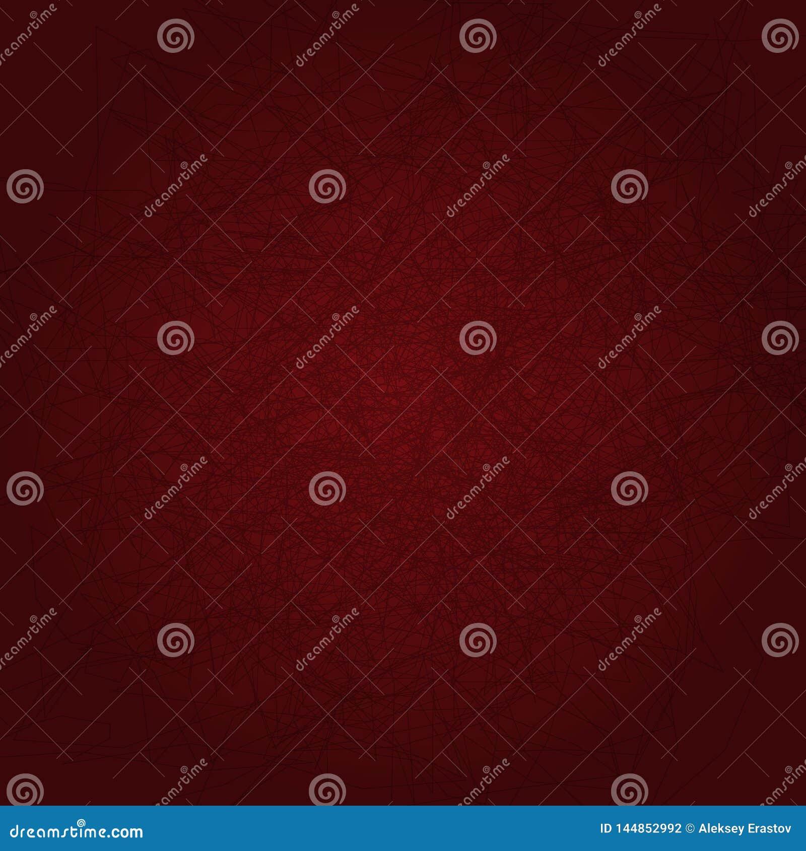 Fyrkantig bakgrund med klottrar R?d mall med kaotiska linjer ocks? vektor f?r coreldrawillustration