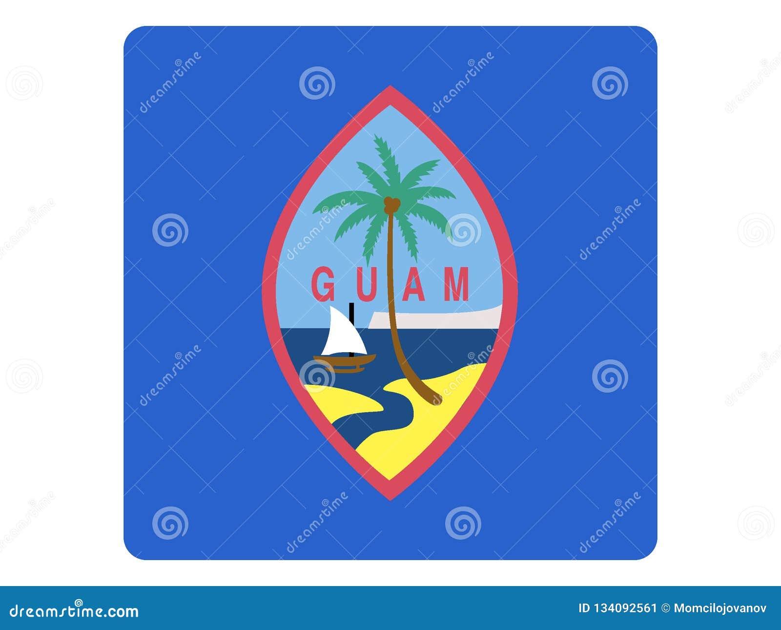 Fyrkantig flagga av Guam