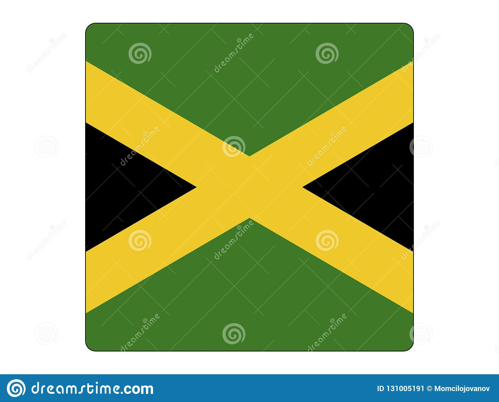 Fyrkantig flagga av Jamaica