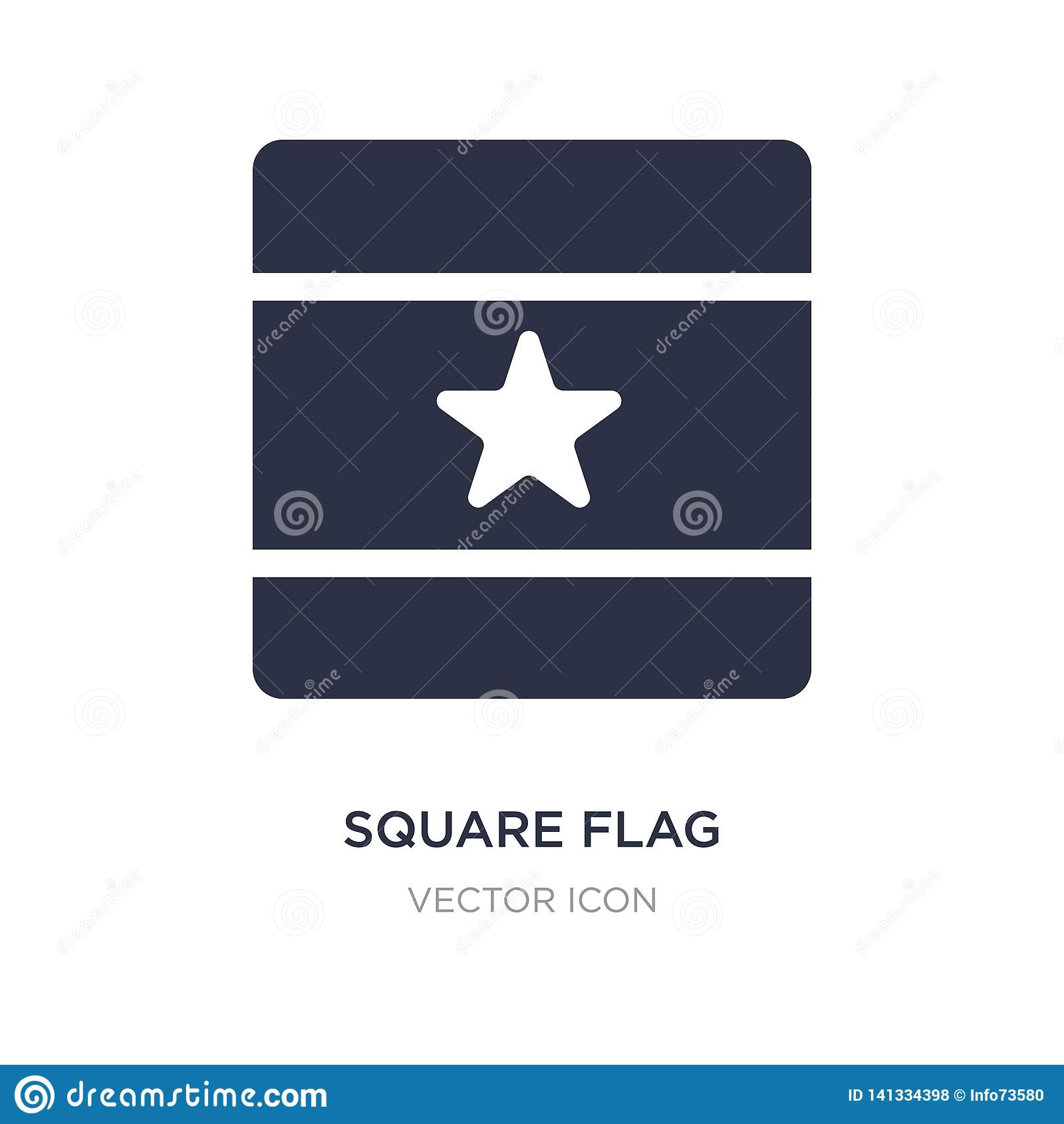 Fyrkantig flaggasymbol på vit bakgrund Enkel beståndsdelillustration från översikts- och flaggabegrepp