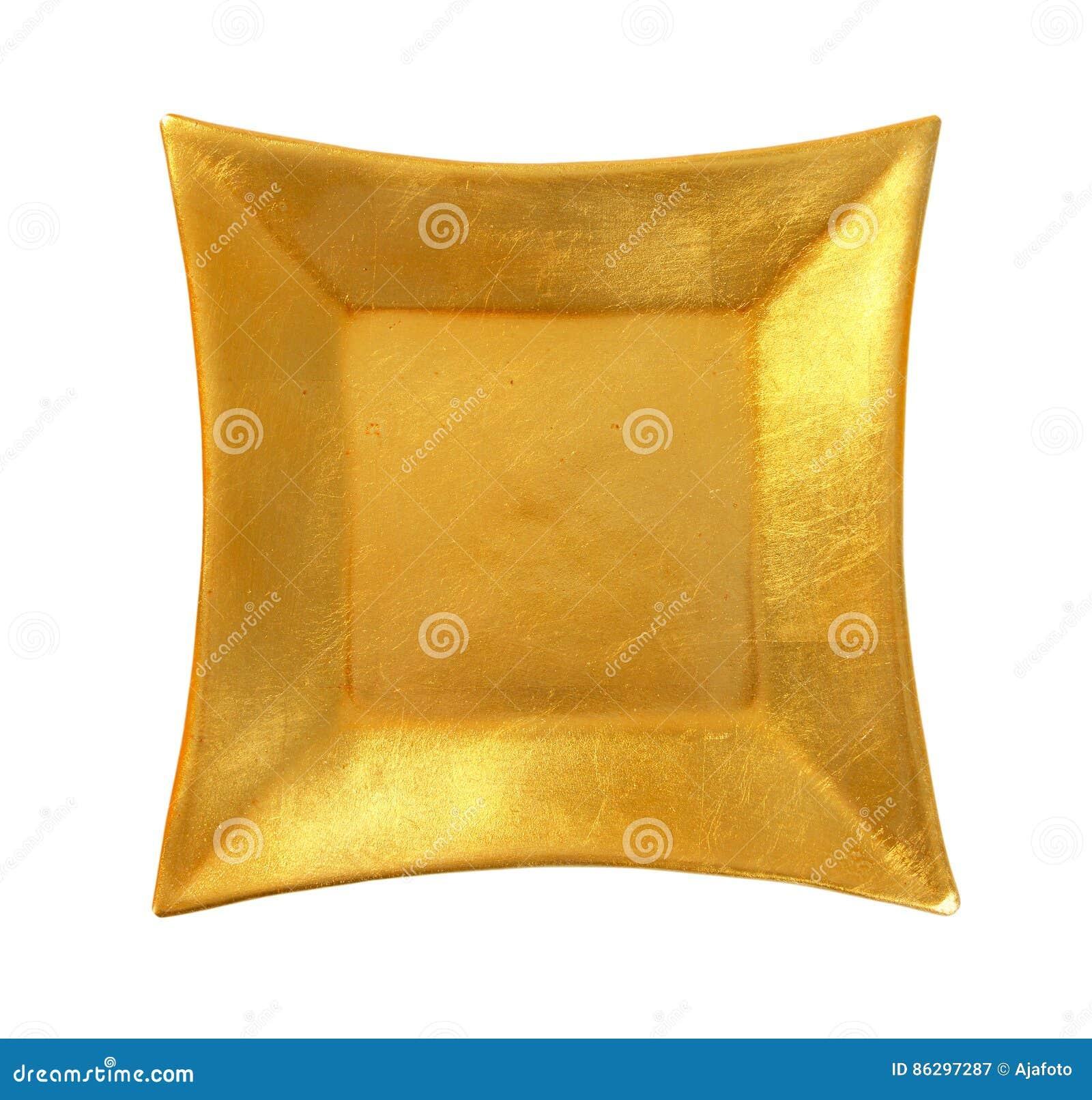 Fyrkantig guld- platta