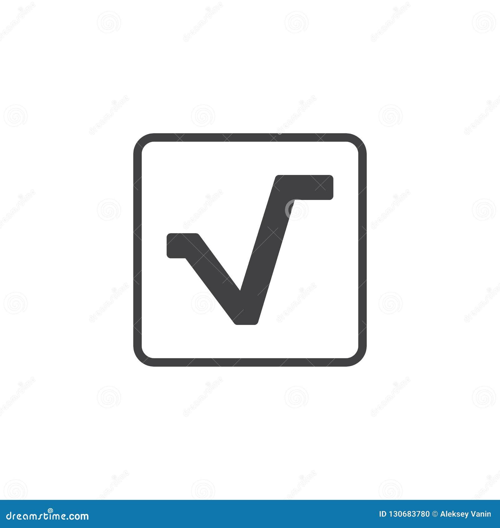 Fyrkantigt rota vektorsymbolen