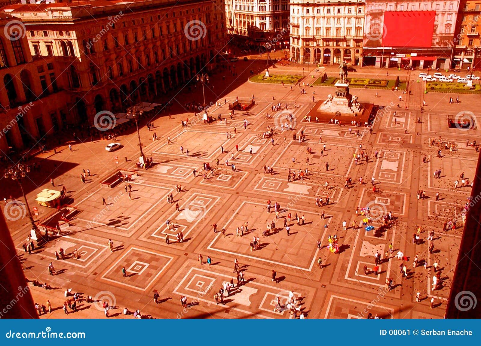 Fyrkantigt stads-