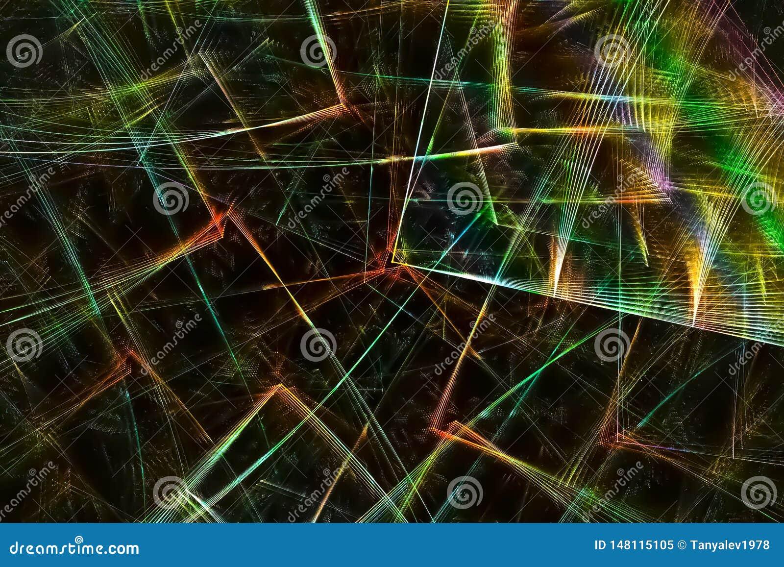Fyrverkeri för design för våg för fantasi för samkopiering för abstrakt för explosionkaosbegrepp för vetenskap för fractal univer