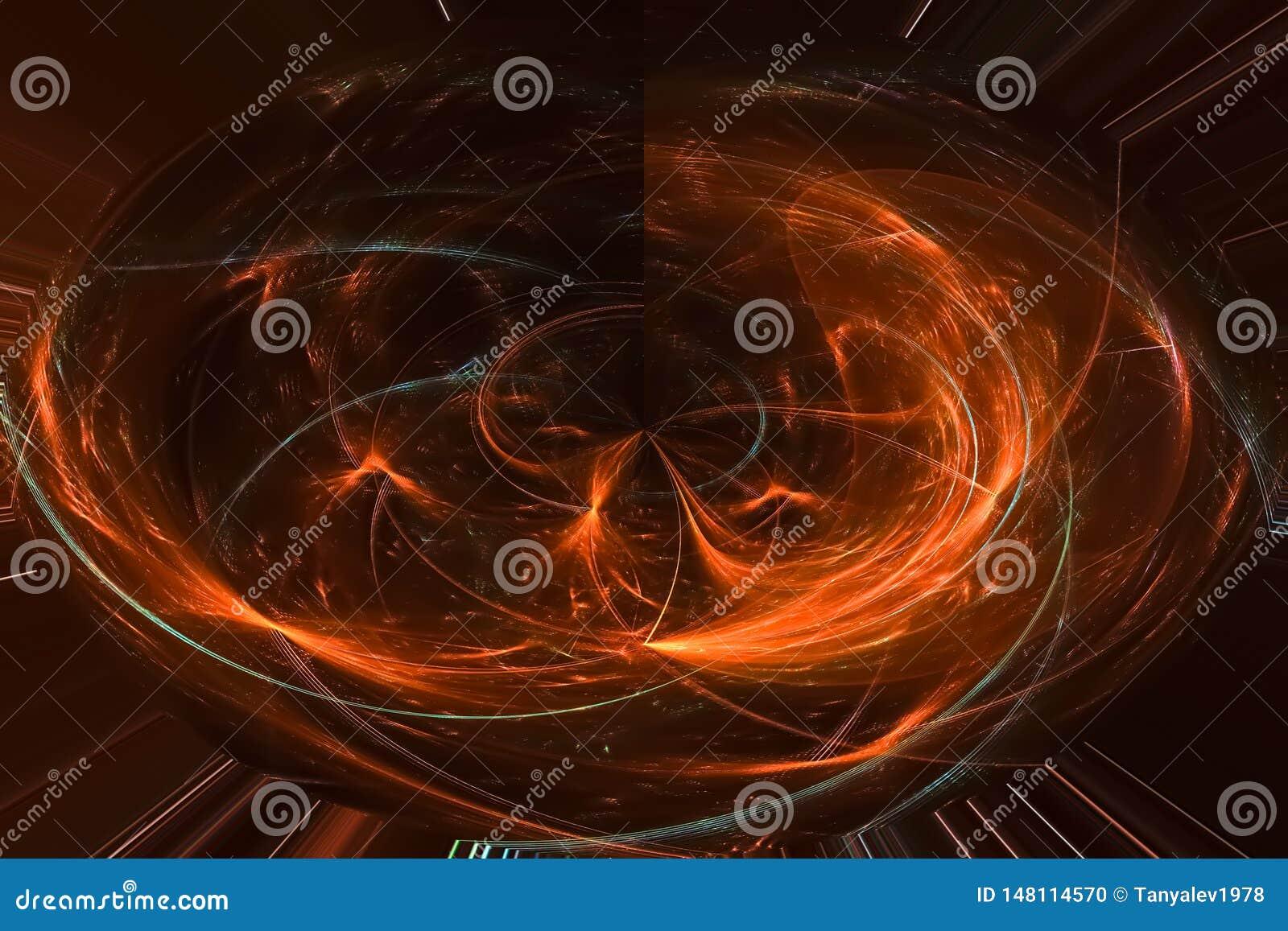 Fyrverkeri för design för våg för fantasi för samkopiering för digitalt för fractal för abstrakt modelltextur glödande universum
