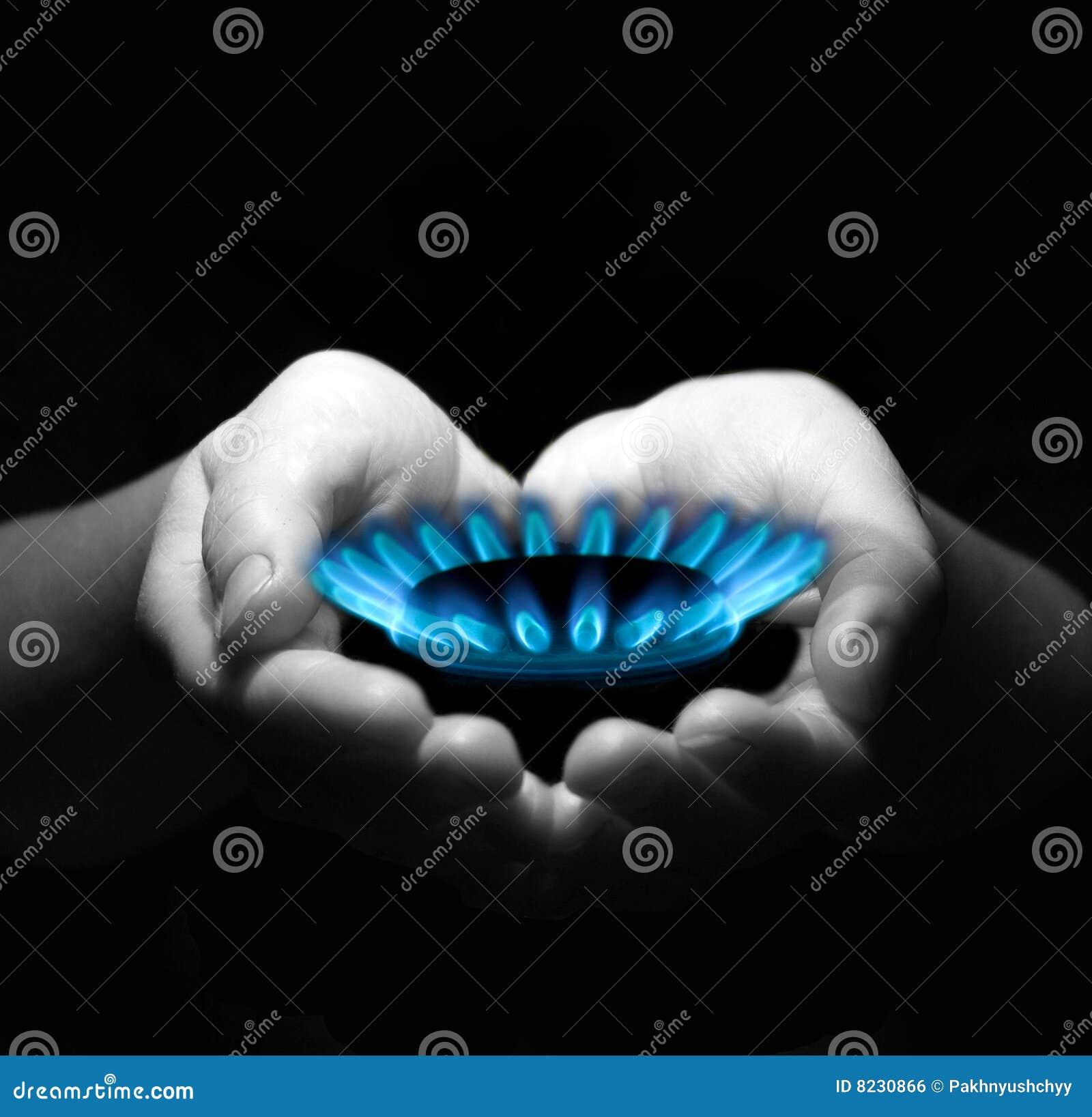 Gás nas mãos