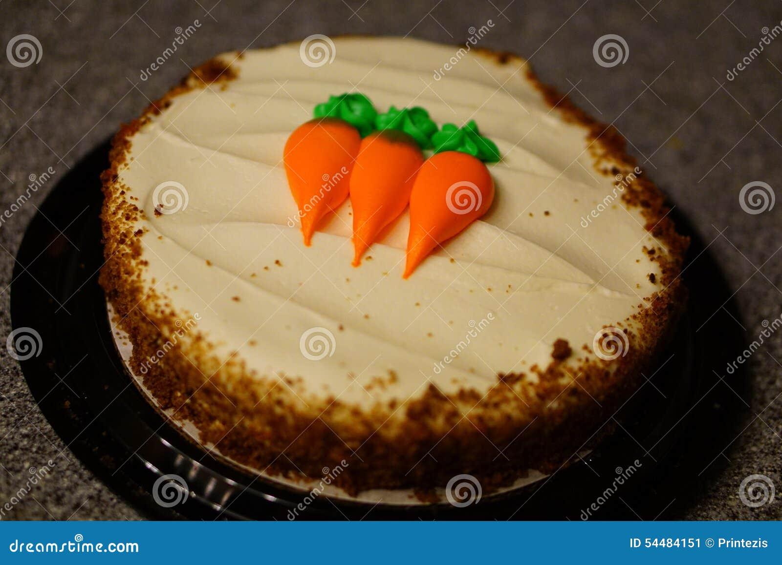 Gâteau à la carotte sur le compteur