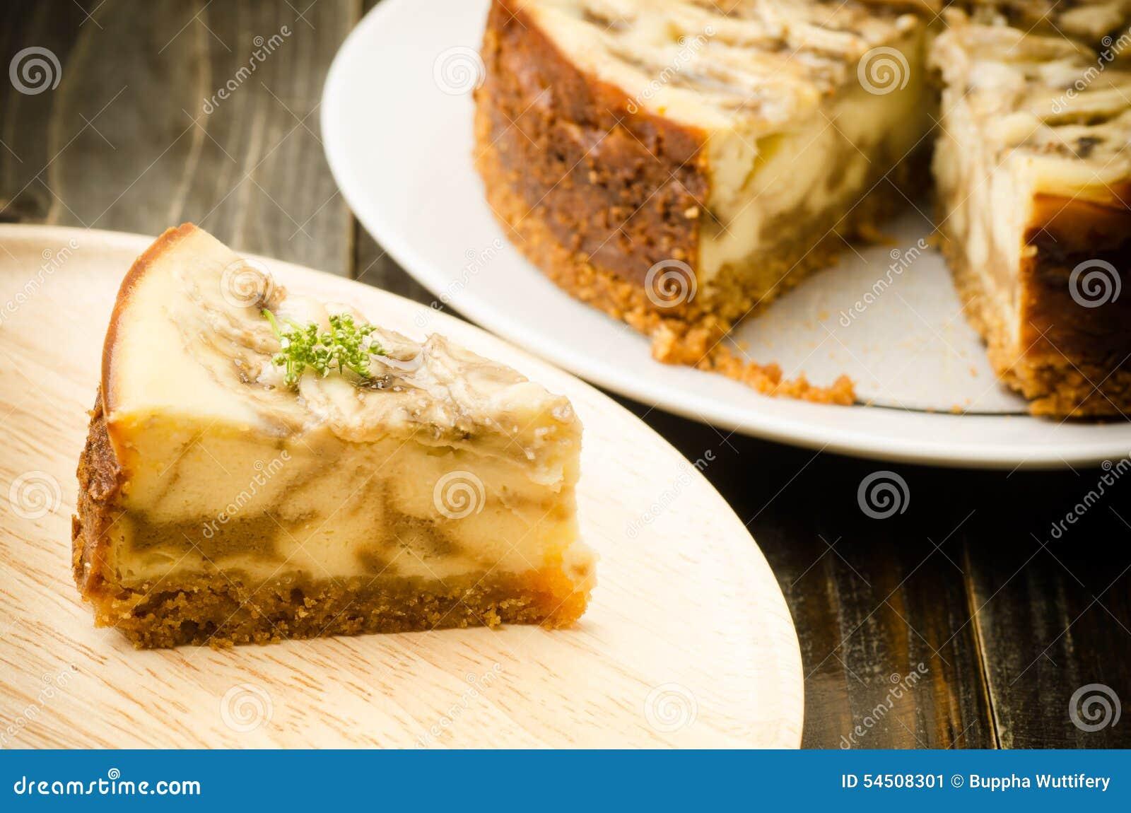Gâteau au fromage de caramel de banane