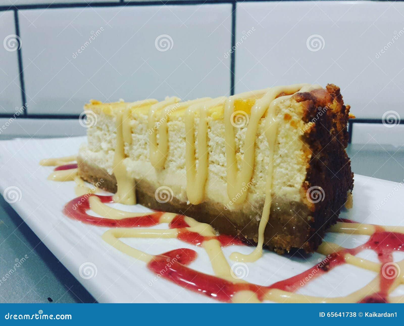 Gâteau au fromage salé de caramel