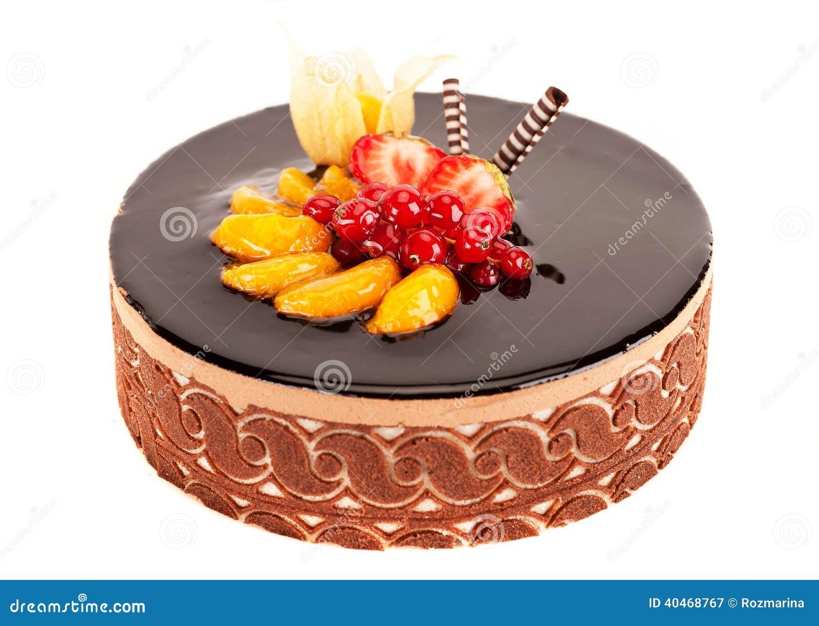 g teau avec les baies le fruit et le chocolat photo stock image 40468767. Black Bedroom Furniture Sets. Home Design Ideas