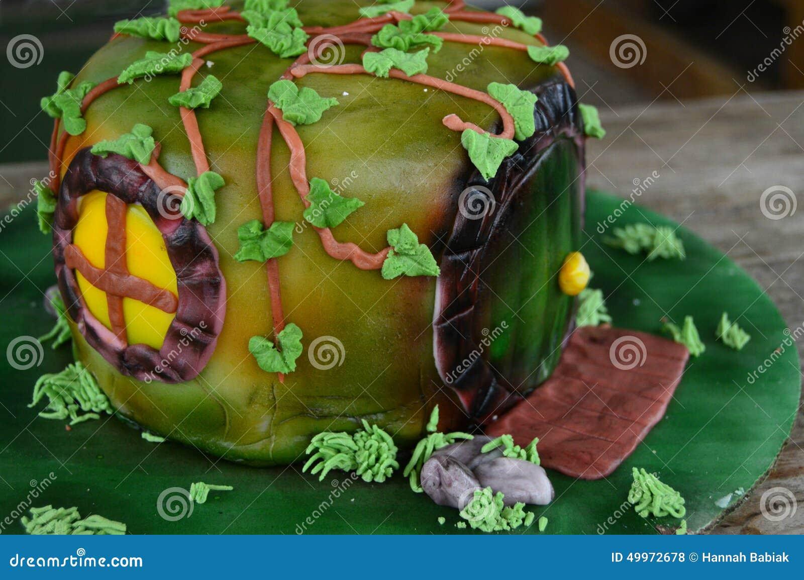 Gâteau décoré par trou de Hobbit