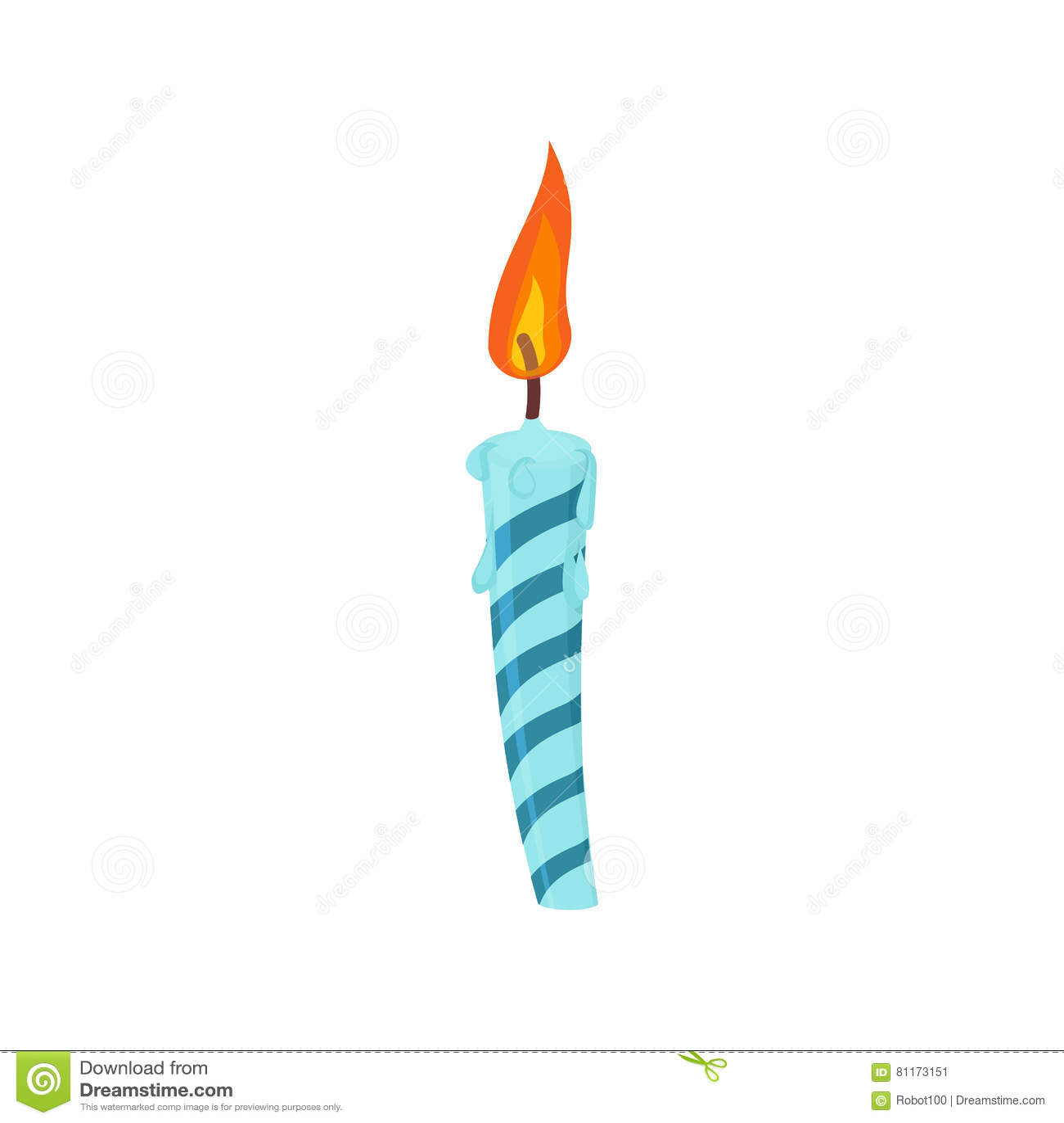 Bougie Anniversaire gâteau d'anniversaire de bougie bougie bleue de fête d'isolement