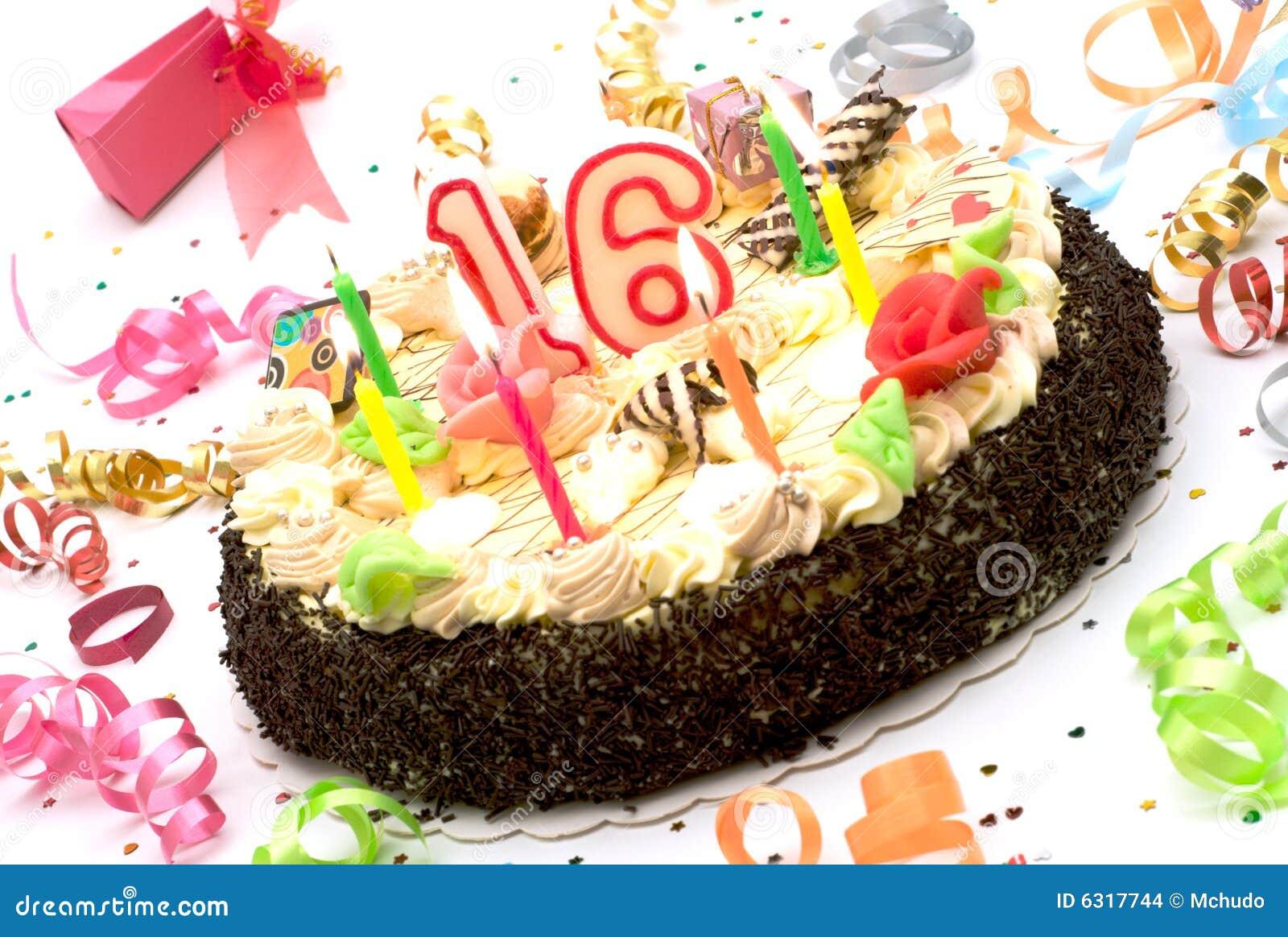 Gâteau d anniversaire pendant 16 années de jubilé
