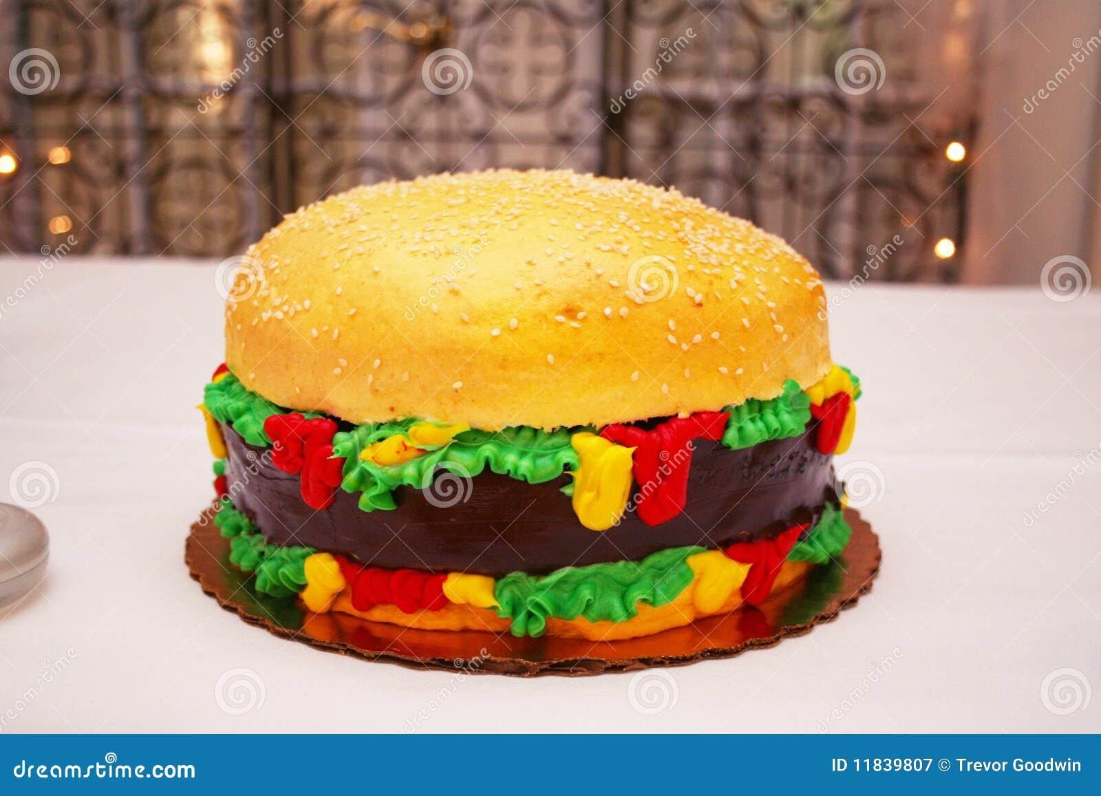 G teau d 39 hamburger photographie stock libre de droits image 11839807 - Gateau original facile a faire ...
