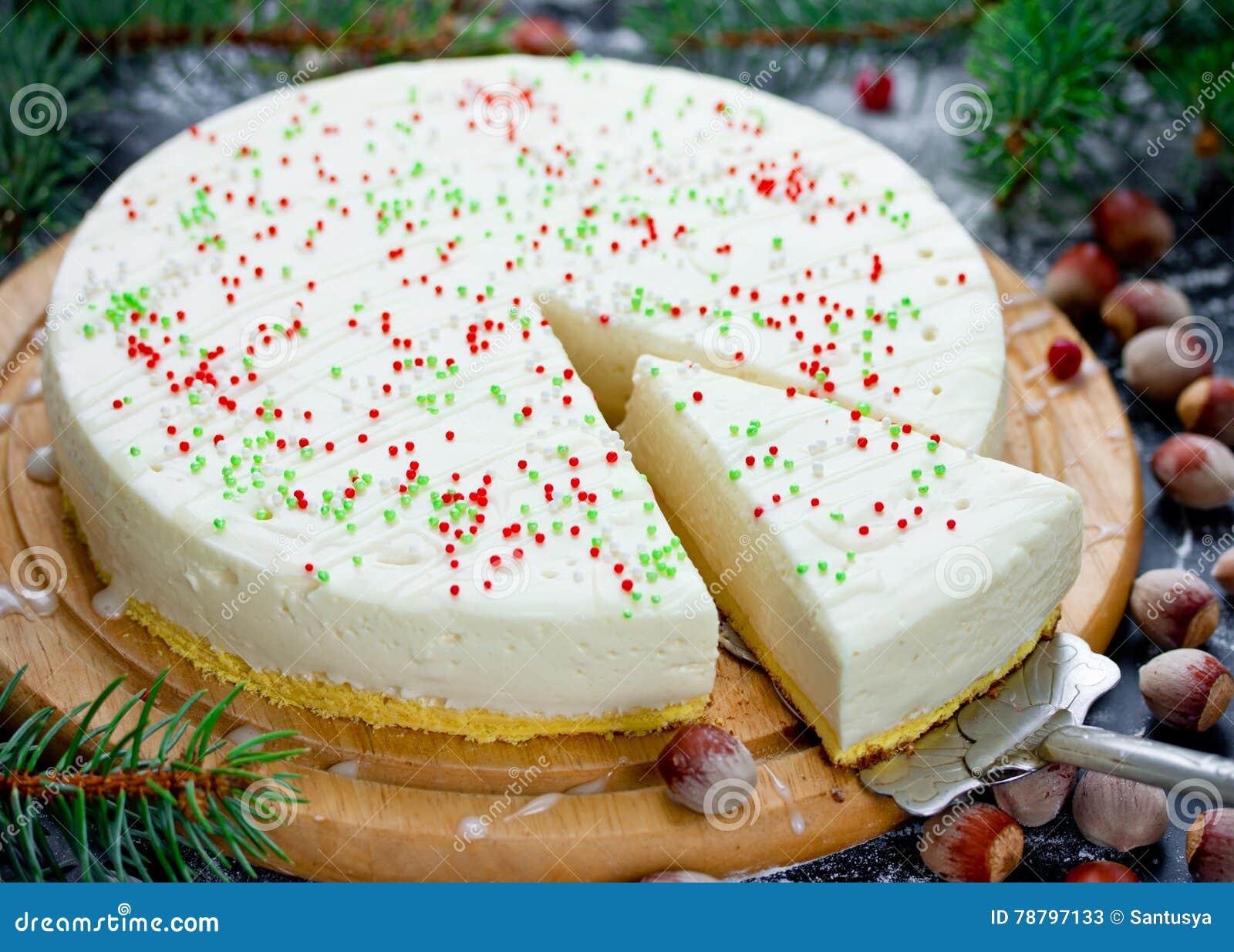 Gateau De Fete De Noel.Gâteau De Chocolat Blanc De Noël Avec Le Mascarpone Christma