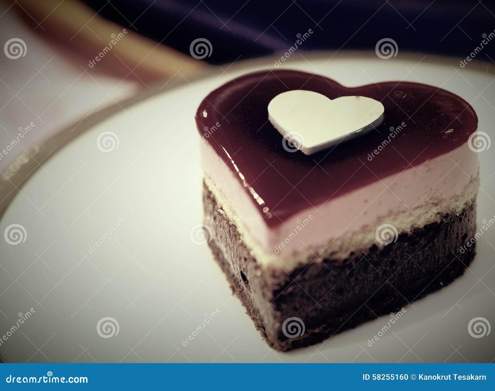 Gâteau De Chocolat Damoureux Photo Stock Image Du Doux Forme