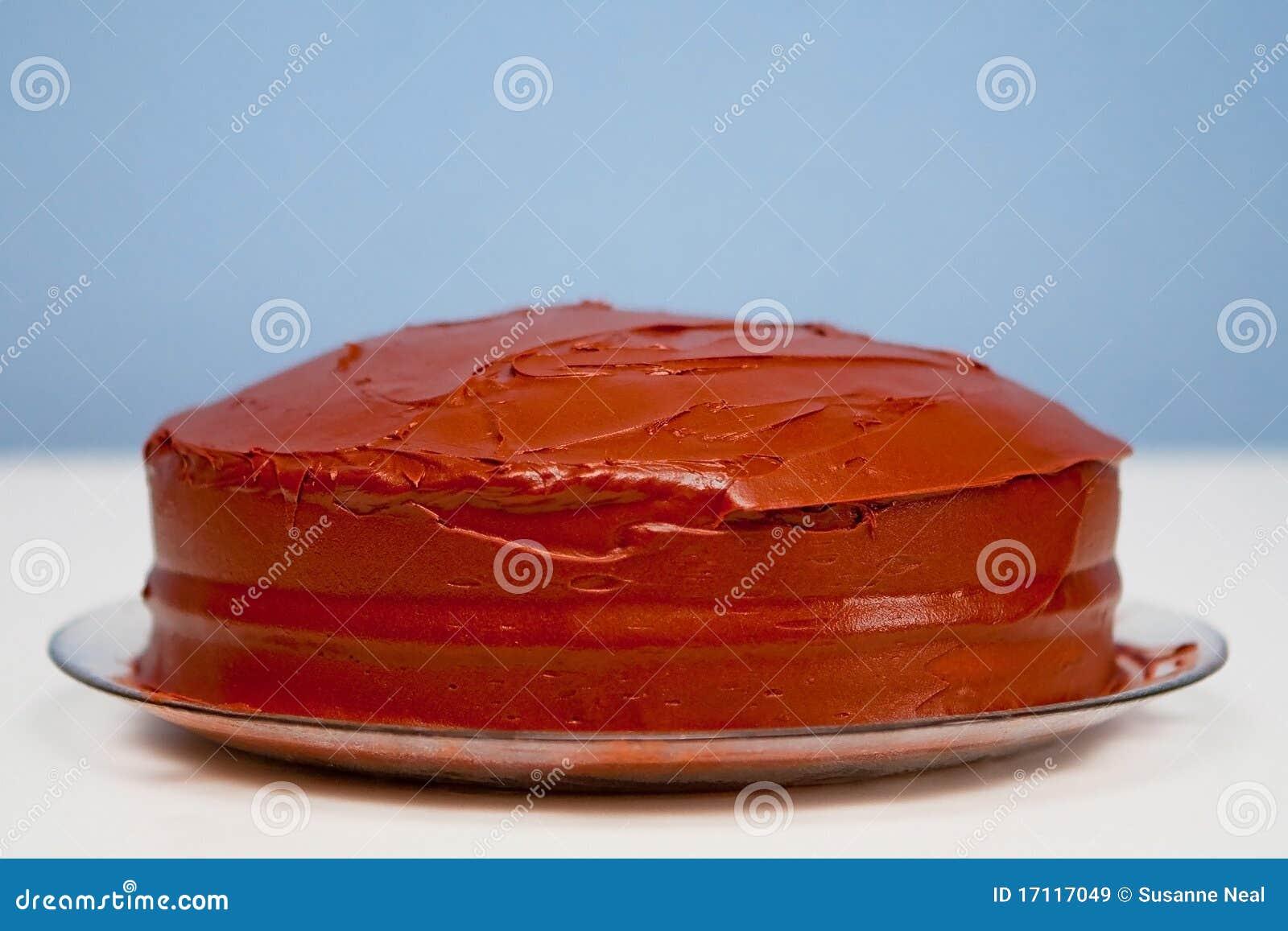 Gâteau De Chocolat Rond Ordinaire Fait Maison Image Stock Image Du